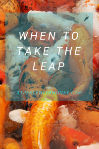 When to Take The Leap: At Peace With Money