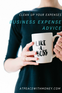 Business Expense Advice: At Peace With Money