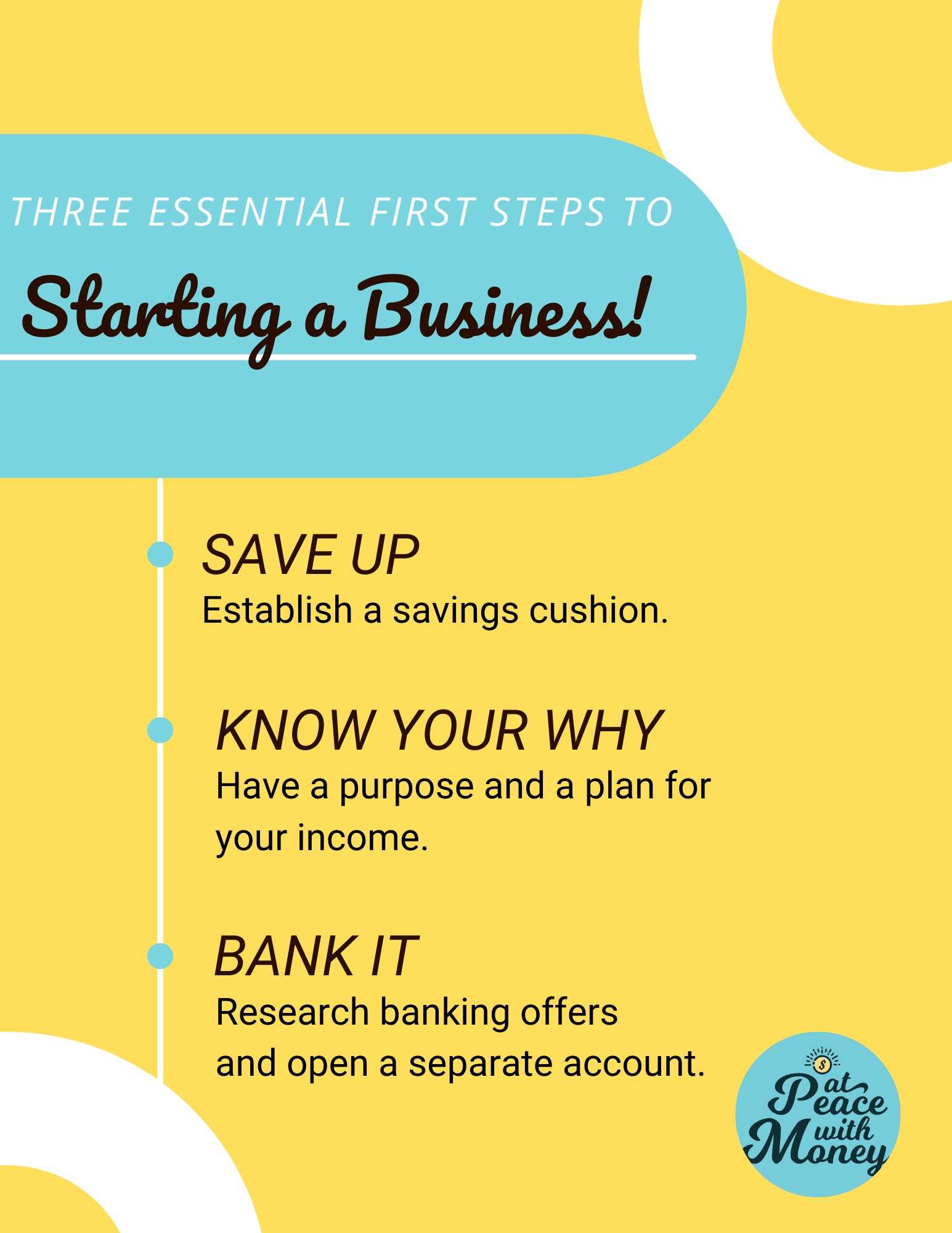 3 Steps to Starting a Business
